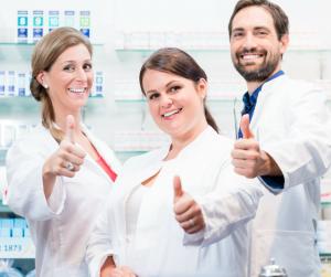 Pharmaciens heureux